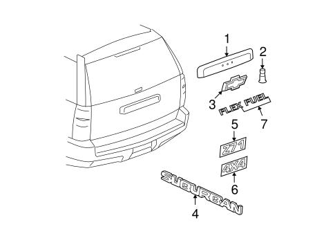 Applique for 2007 Chevrolet Suburban 1500|22777529 : Quirk