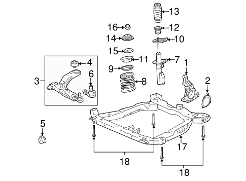 Suspension Components for 2008 Chevrolet HHR