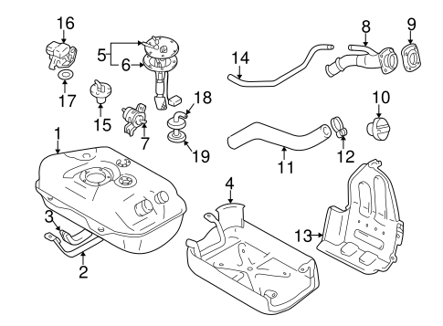 Fuel System Components for 2003 Chevrolet Tracker