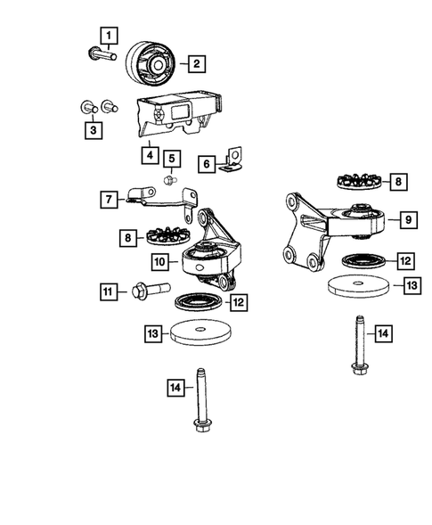 Rear Axle; Housing, Differential and Vent for 2016 Jeep