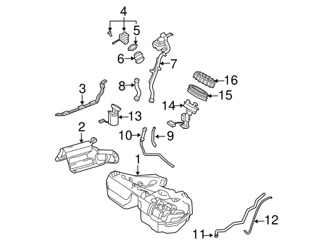 Fuel System Components for 2004 Mercedes-Benz E 55 AMG