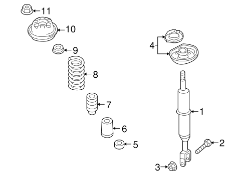 Suspension, Springs & Related Components for 2008 Audi A4