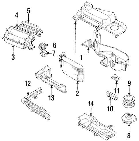 CONDENSER, COMPRESSOR & LINES Parts for 1995 Pontiac Grand