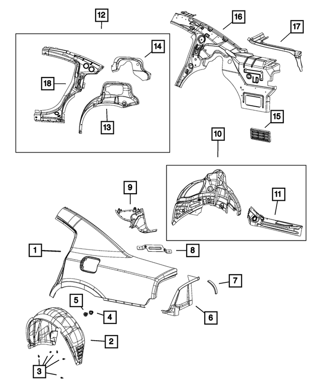 Dodge Charger Body Parts Diagram / 2015 2021 Dodge Charger