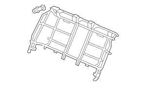 2009-2012 Acura RL SEDAN Frame, Rear Seat-Back 82126-SJA