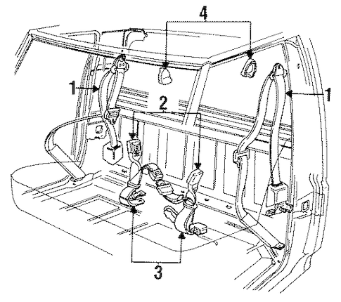 Front Seat Belts for 1995 Ford F-150