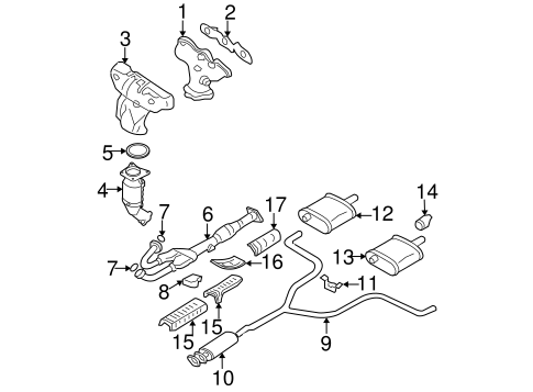 EXHAUST COMPONENTS for 2008 Nissan Altima