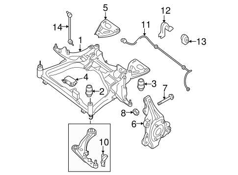 Stabilizer Bar & Components for 2010 Nissan Maxima