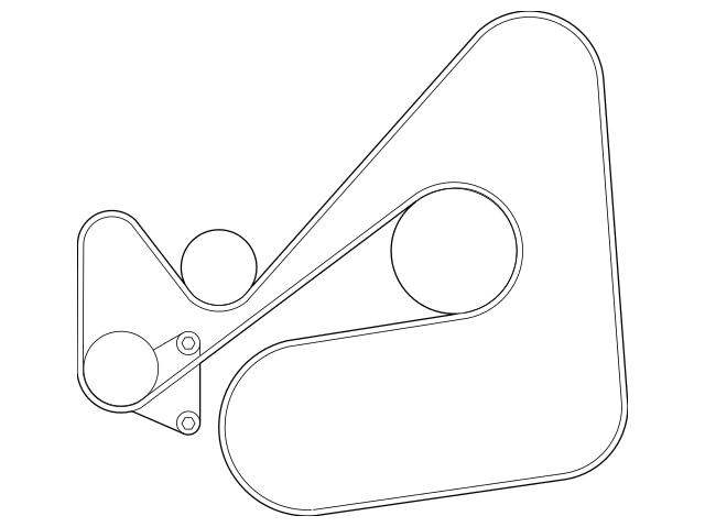 2007-2009 Mazda CX-7 Serpentine Belt L3B6-15-909-9U