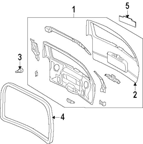 OEM Gate & Hardware for 2003 Oldsmobile Silhouette