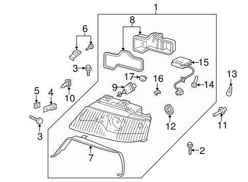 Headlamp Components for 2002 Audi Allroad Quattro