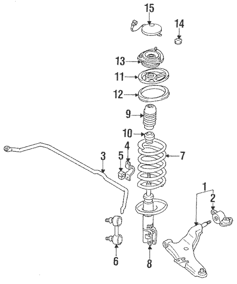 Suspension Components for 1993 Mitsubishi 3000GT VR-4