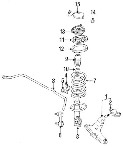 SUSPENSION COMPONENTS for 1992 Mitsubishi 3000GT