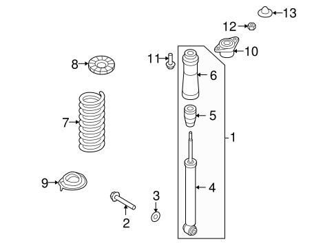 Genesis Rear Suspension/Shocks & Components Parts