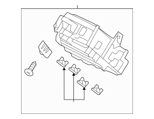 Honda Box Assembly, Fuse (Rewritable) 38200-T3W-A14