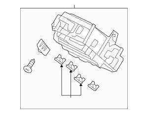 2017 Honda ACCORD HYBRID SEDAN Box Assembly, Fuse
