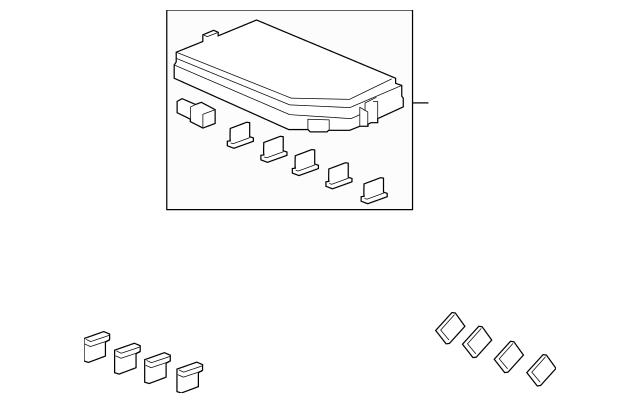 Genuine Honda Cover, Relay Box (Upper) 38256-TG7-A11