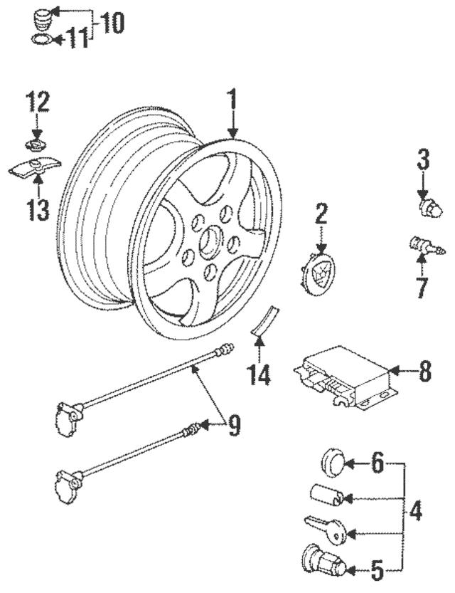 1984-1995 Porsche 928 Pressure Vent 928-606-413-00