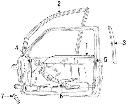 FRONT DOOR for 1995 Dodge Ram 2500