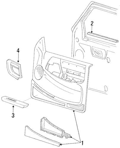 Door Trim Panel for 1993 Ford Ranger|F37Z1023943AAE