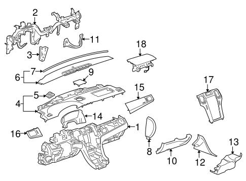 Instrument Panel for 2011 Cadillac Escalade ESV