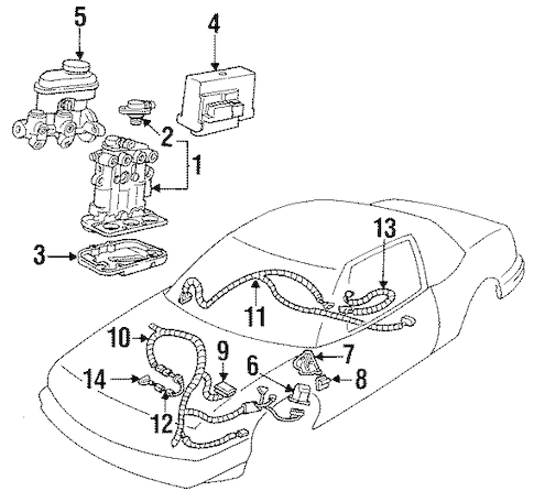 OEM 1996 Buick Regal Anti-Lock Brakes Parts