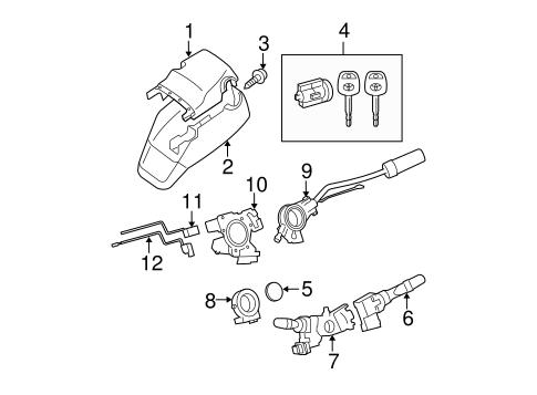 Genuine OEM IGNITION LOCK Parts for 2010 Toyota Tundra SR5