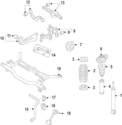 OEM VW Rear Suspension for 2009 Volkswagen Rabbit