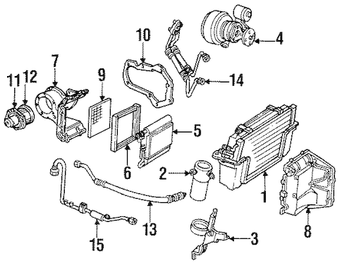 Condenser, Compressor & Lines for 1985 Chevrolet Corvette