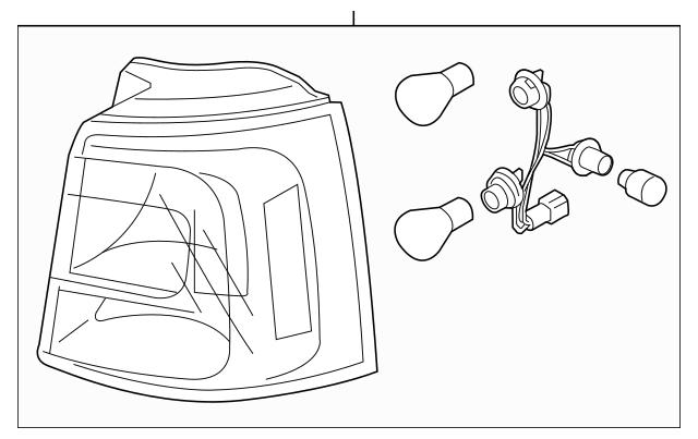 Buy this Genuine 2014-2015 Kia Sorento Tail Lamp Assembly