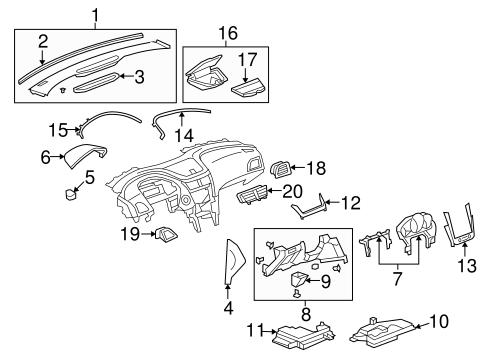 OEM 2010 Chevrolet Malibu Instrument Panel Components