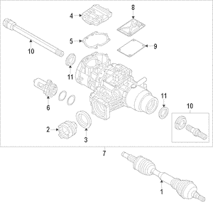 2017-2018 Jeep Cherokee Axle Assembly 52123658AG