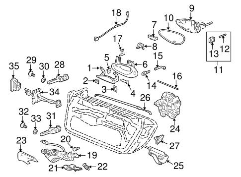 Lock & Hardware for 1999 Porsche Boxster
