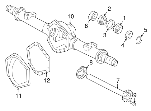 OEM Axle Housing for 1996 Chevrolet K1500 Pickup