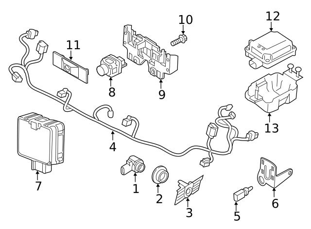 2018-2020 Volkswagen Atlas Park Sensor Bracket 3CN-919-494