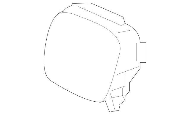Genuine 2016 Honda PILOT 5-DOOR Cover, Front Grille Radar
