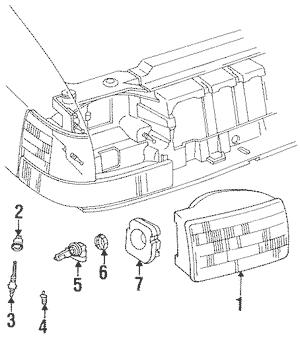 1997 Jeep Grand Cherokee Headlamp Adjuster Gear 55055121