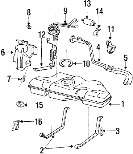 OEM FUEL SYSTEM COMPONENTS for 1998 Pontiac Grand Am