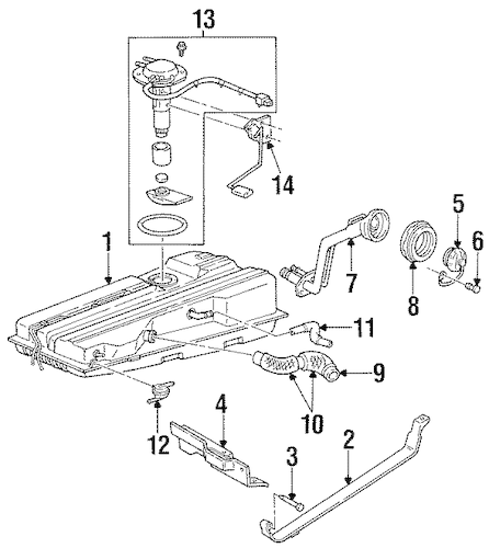 FUEL SYSTEM COMPONENTS for 1999 Mercury Villager