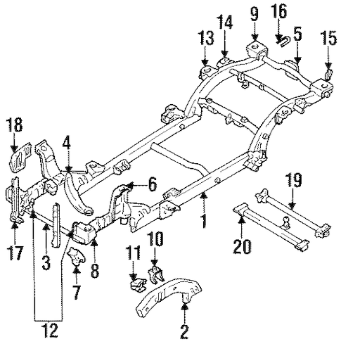 OEM Frame & Components for 1998 Chevrolet Tracker