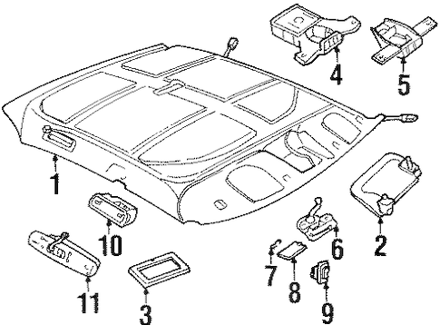 12371898 Headliner for 1998 Pontiac Bonneville : GM Parts