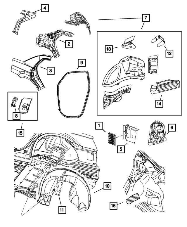 2005-2008 Chrysler 300 Body Side Aperture Rear Panel, Left