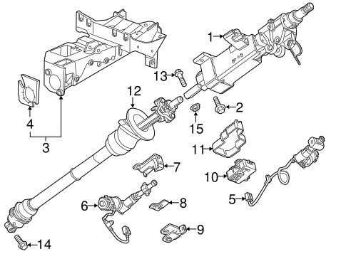 OEM 2014 Chevrolet Corvette Steering Column Assembly Parts