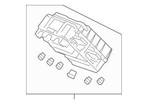 2010-2012 Acura RDX 5-DOOR Box Assembly, Fuse 38200-STK