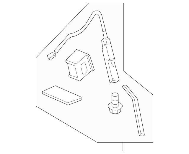 Genuine 2013-2015 Honda CROSSTOUR 5-DOOR Antenna Set