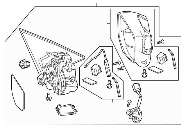 2013-2015 Honda CROSSTOUR 5-DOOR Mirror Assembly, R (R.C
