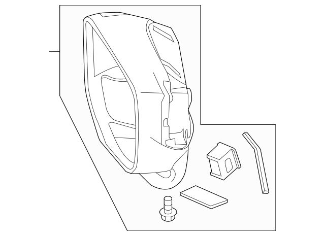 2013-2015 Honda CROSSTOUR 5-DOOR Housing Set, L 76255-TP6