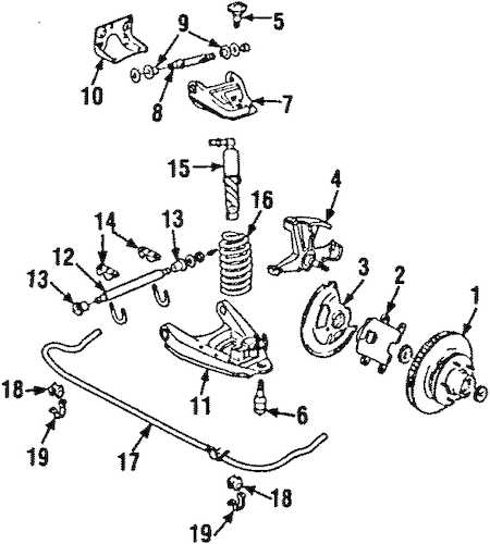 OEM FRONT SUSPENSION for 1991 Chevrolet Suburban R2500