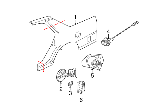 Quarter Panel & Components for 2009 Ford Crown Victoria