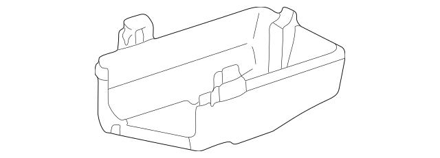 1998-2002 Toyota Corolla Fuse Box Main Lower Cover 82674